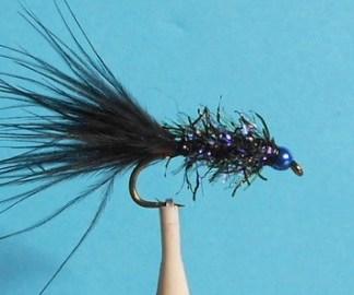UV2 Straggle Leech Fly - Black & Blue