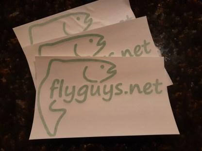 flyguys.net Fish Decal - Green