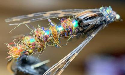 Kamloops Caddis Pupa Sedge Hot Spot Fly