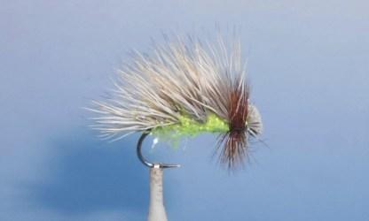 MikStraggle Sedge Adult Caddisfly - Chartreuse