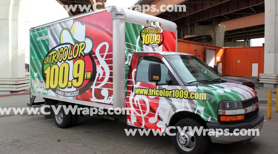 Vinyl Truck Wrap for Radio Tricolor 100.9FM