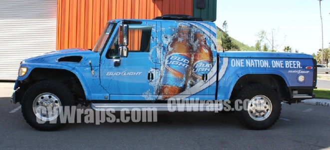 Bud Light Truck Wrap