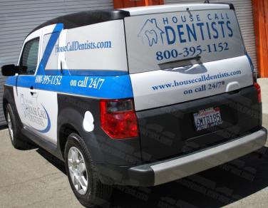 Car Wrap for House Call Dentists