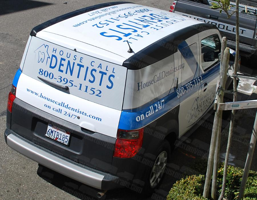 Car Wrap for House Call Dentists