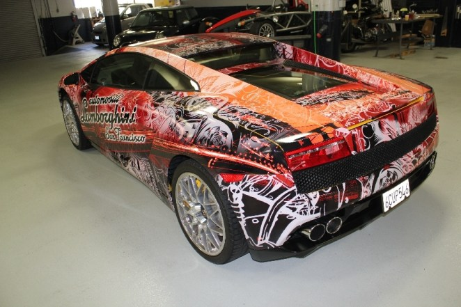 Lamborghini Car Wrap