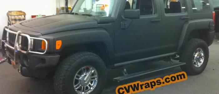 Hummer: Matte Black Wrap