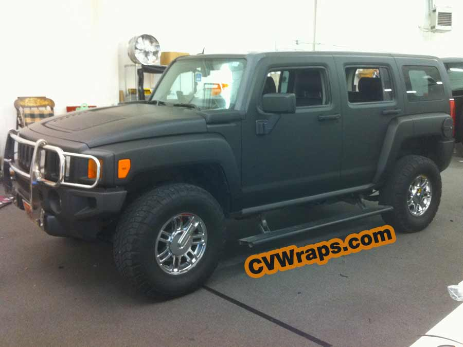 Matte Black Wrap for Hummer