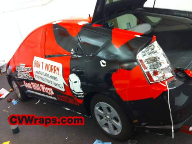 Prius Wrap for Goathill Pizza