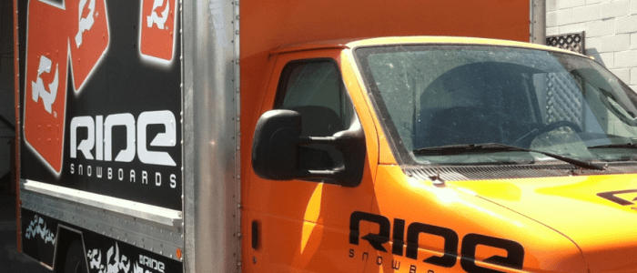 Ride Snowboards Truck Wrap