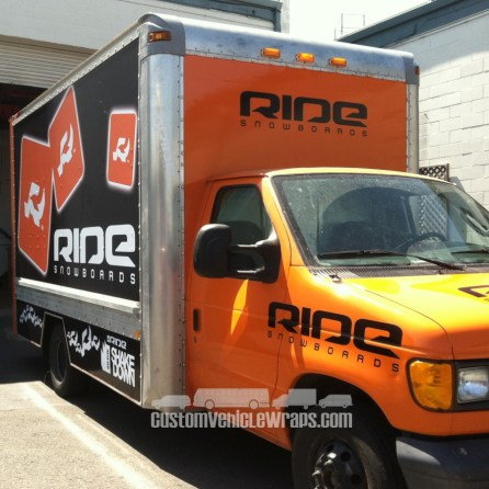 Ride Snowboards - Truck WRap