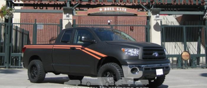The San Francisco Giants gave a fan a wrapped Tundra