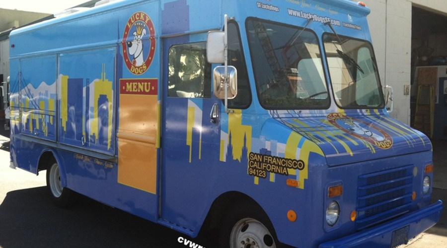 Truck Wrap for Lucky Dogs – A San Francisco Food Truck