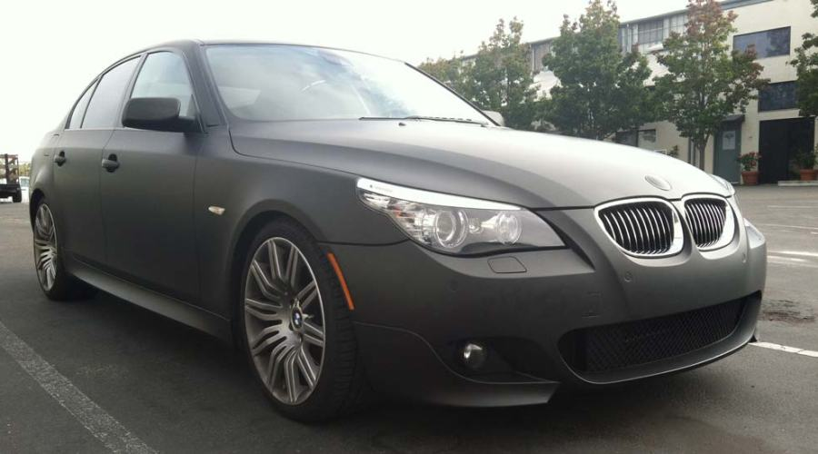 Matte Black Vinyl Wrap for BMW