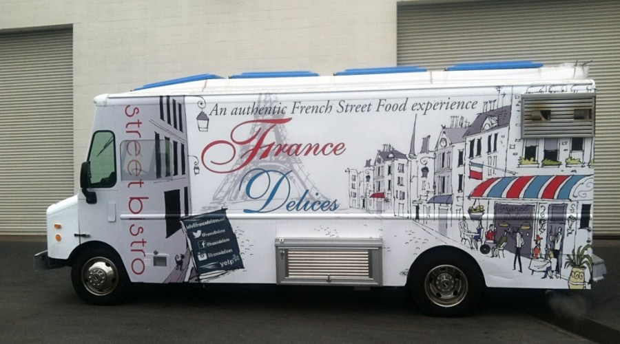 Food Truck Wrap for France Delices