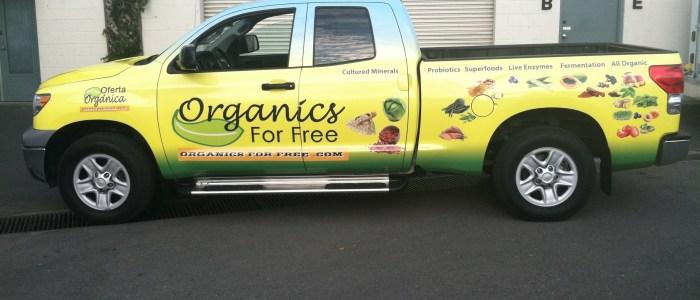Organics For Free Truck Wrap