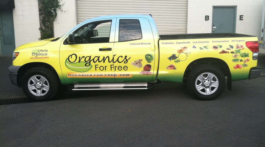 Organics For Free Truck Wrap