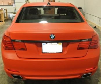 Orange BMW Back