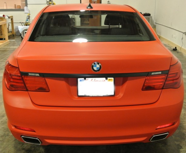 Orange BMW Back