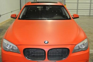 Orange BMW Front