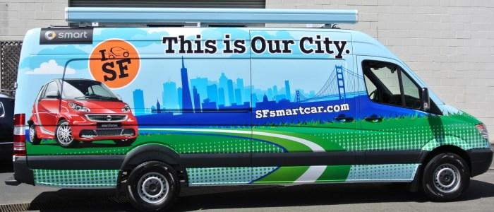 Smart Car SF Promotional Van Wrap