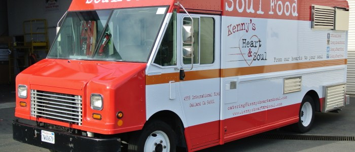 Food Truck Wrap for Kenny's Heart & Soul