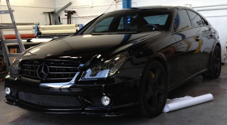 Black Mercedes Pre-wrap