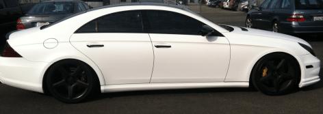 Mercedes White Wrap Side