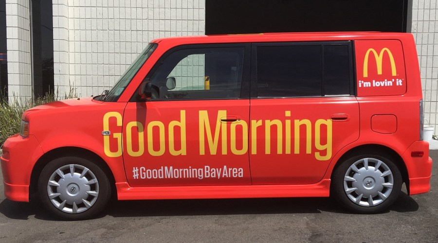 Car Wrap for McDonald's Good Morning Bay Area Campaign