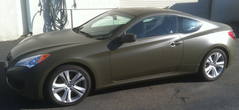 Matte Green Hyundai Car Wrap Custom Vehicle Wraps