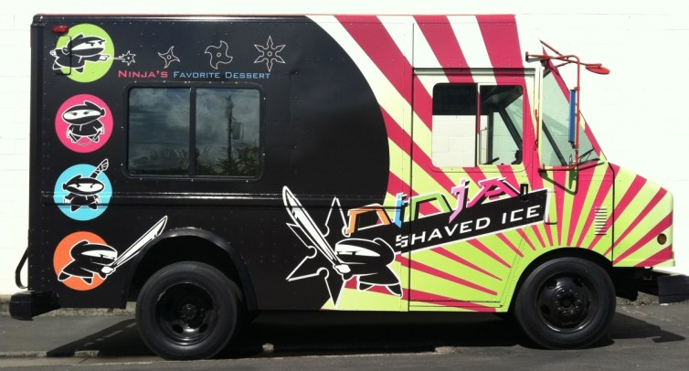 ninja shaved food truck right