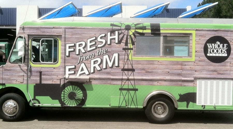 Truck Wrap for Whole Foods