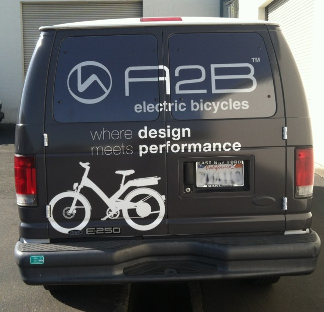 a2b van wrap back