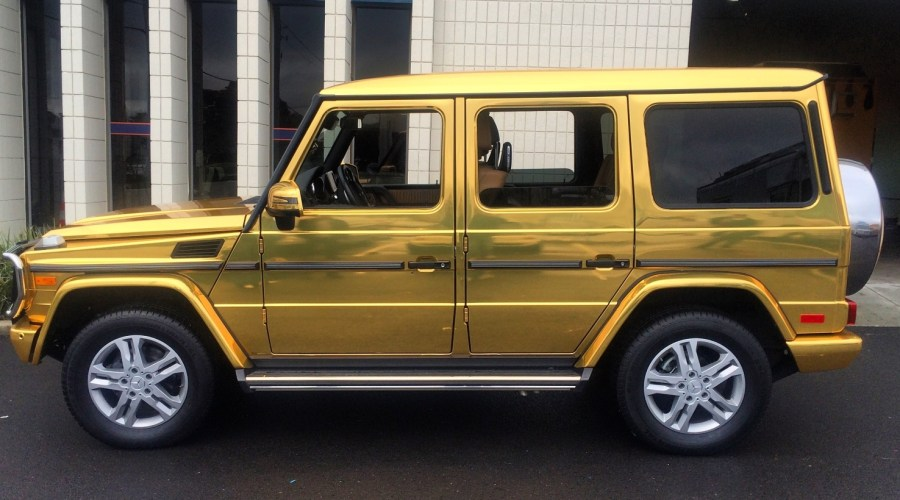 Gold Mercedes Car Wrap for Jamie Foxx
