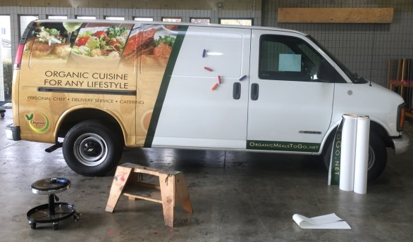 organic delivery truck wrap 2