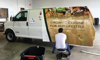 organic delivery truck wrap 3