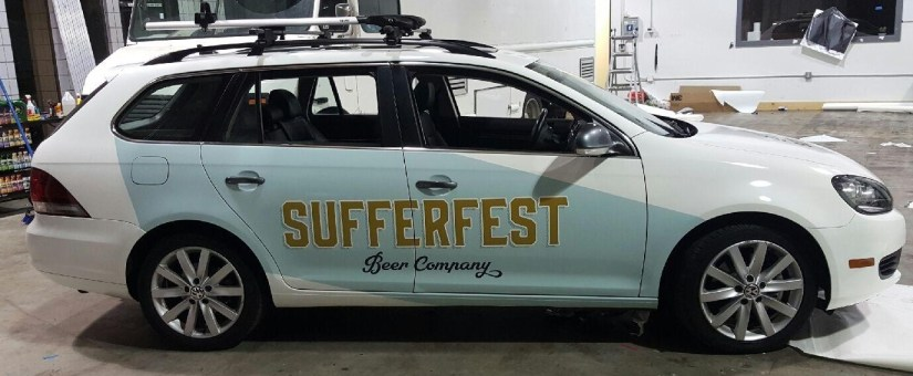 sufferfest beer car wrap right