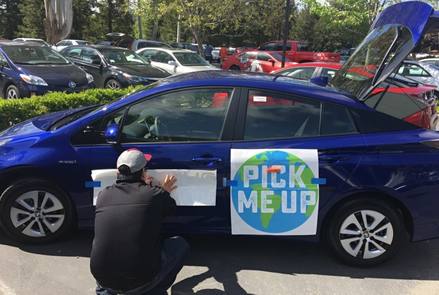 Car Wrap for Earth Week Toyota Prius Fleet – Custom Vehicle