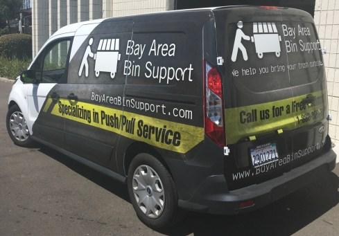 van vehicle graphic back