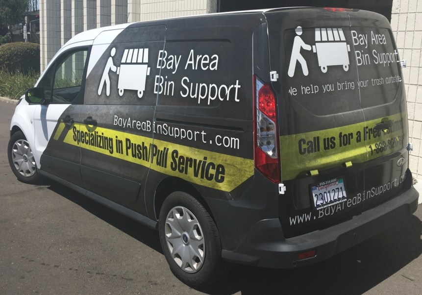 van vehicle graphic back