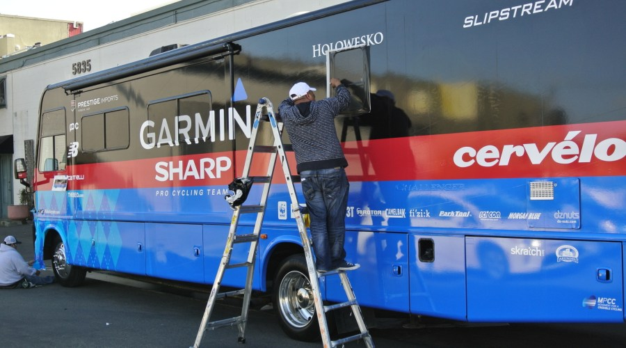 Bus Wrap for Garmin-Sharp