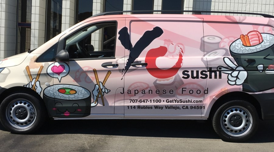 Yo Sushi Food Delivery Van