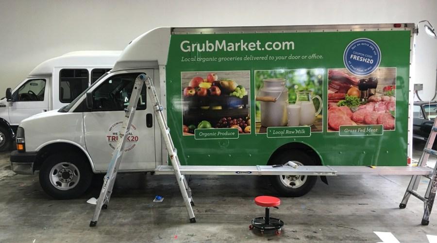 GrubMarket Delivery Van Wrap