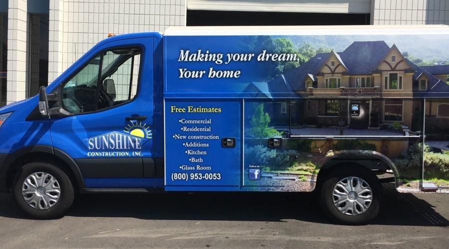 Sunshine Construction Van Wrap