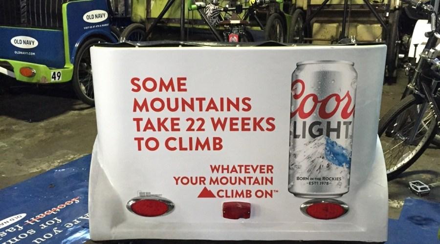 Bike Cart Wraps Advertising Coors Light