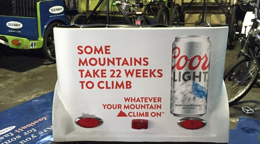 Bike Cart Wraps Advertising Coors Light