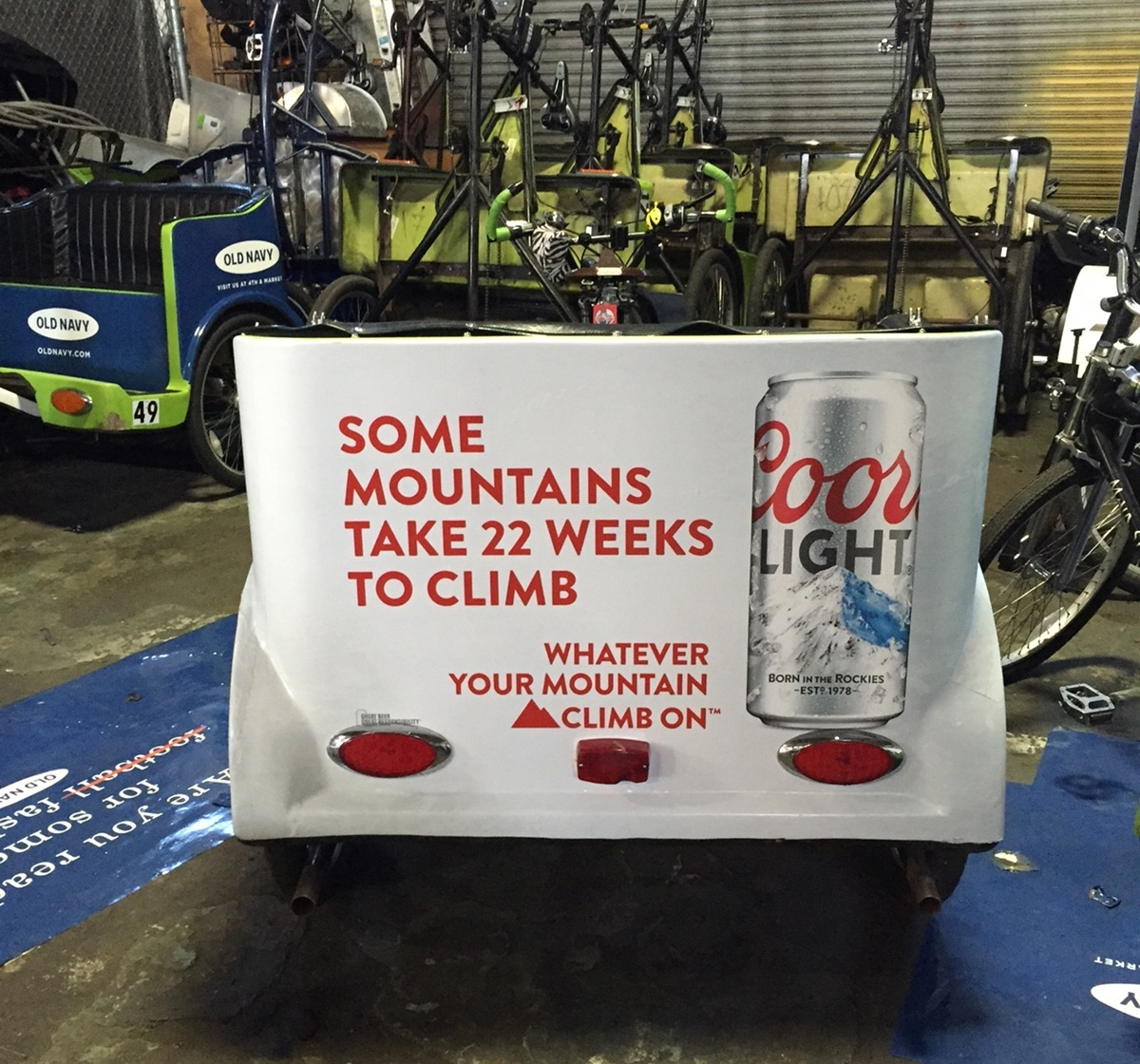 coors bike cart wraps