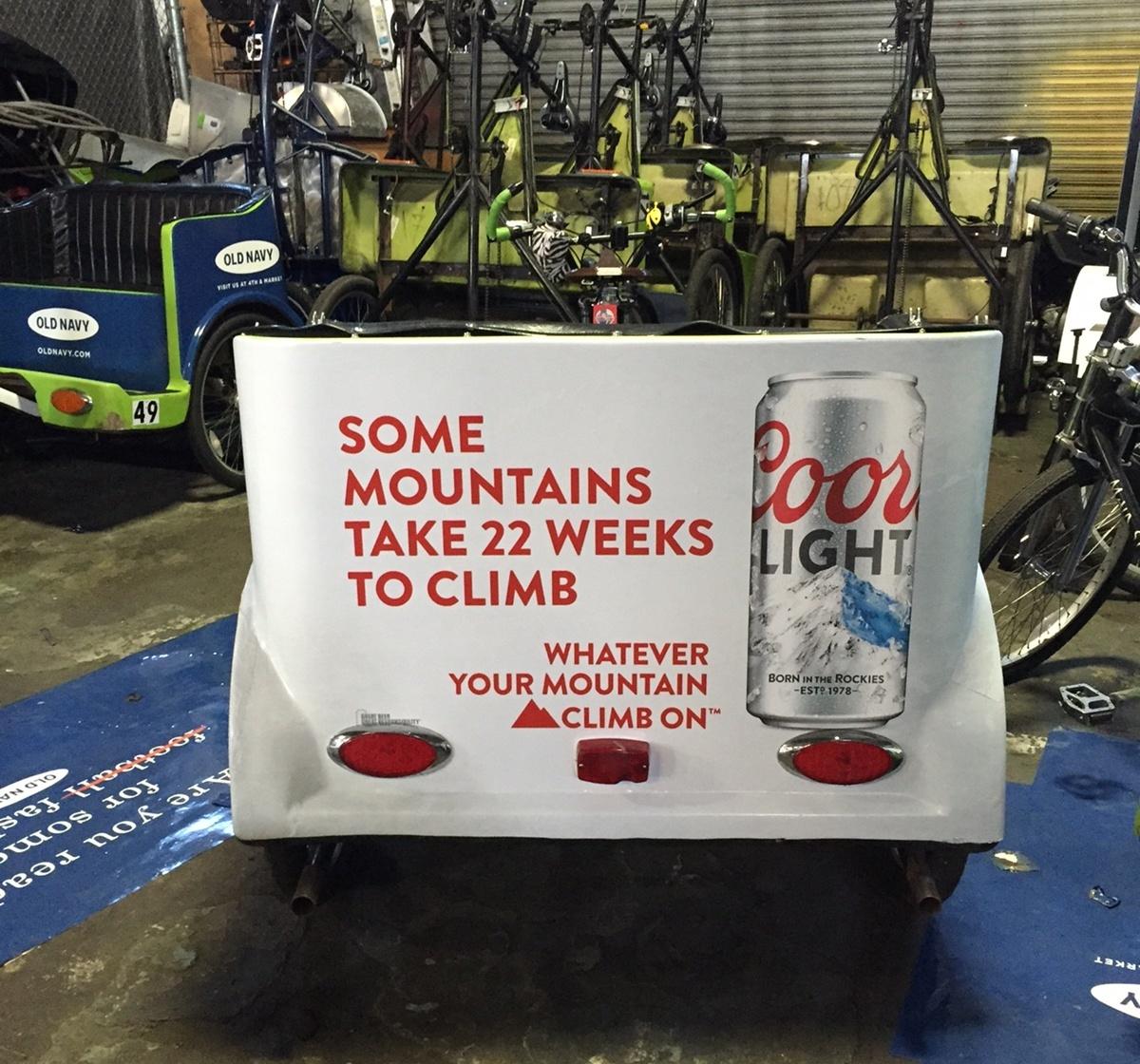 coors bike cart wraps