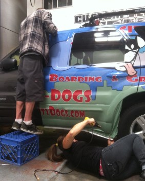 fog city grooming suv wrap