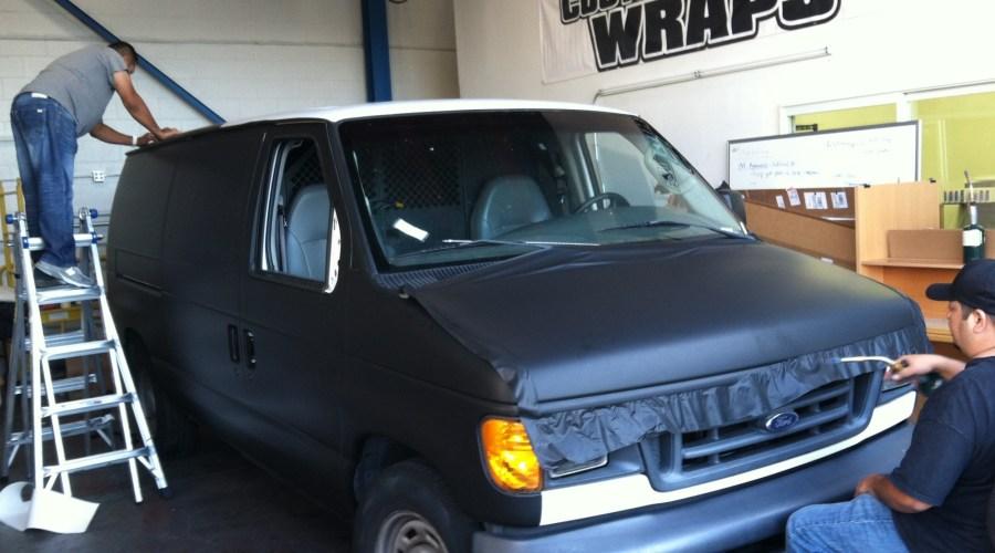 White Van Colorchange to Matte Black