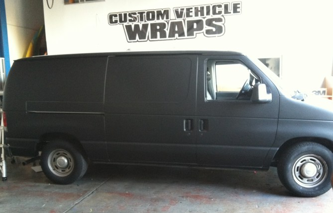 Matte Black Van Wrap